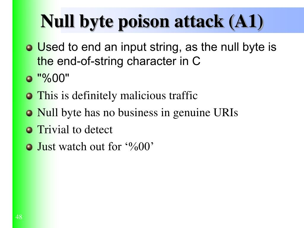 Null byte poison attack (A1)