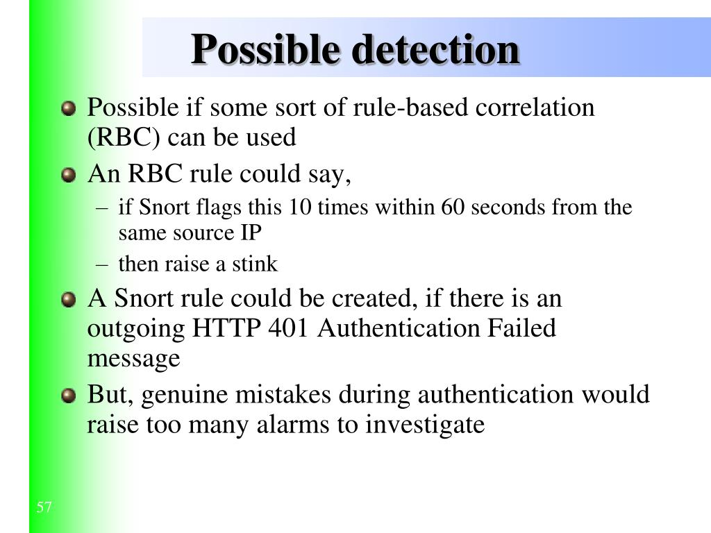 Possible detection