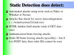 static detection does detect