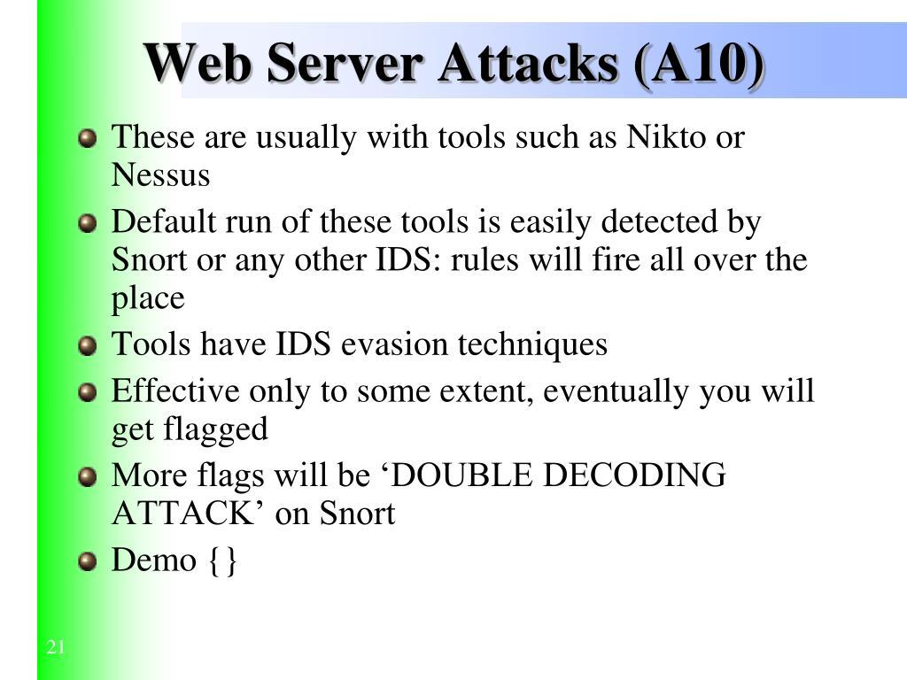 Web Server Attacks (A10)