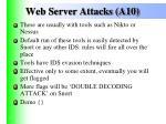web server attacks a10