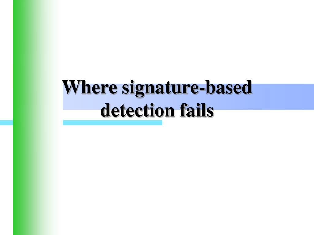 Where signature-based detection fails