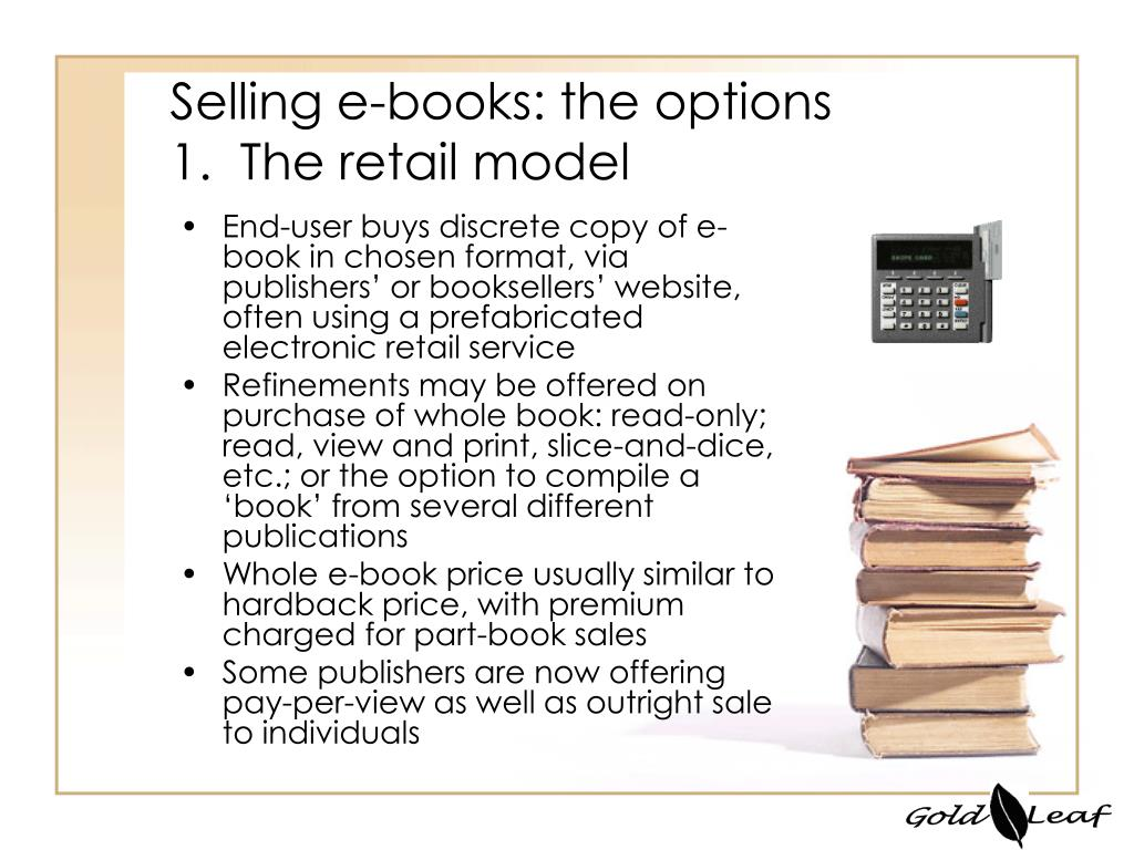 Selling e-books: the options
