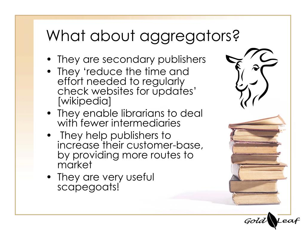What about aggregators?