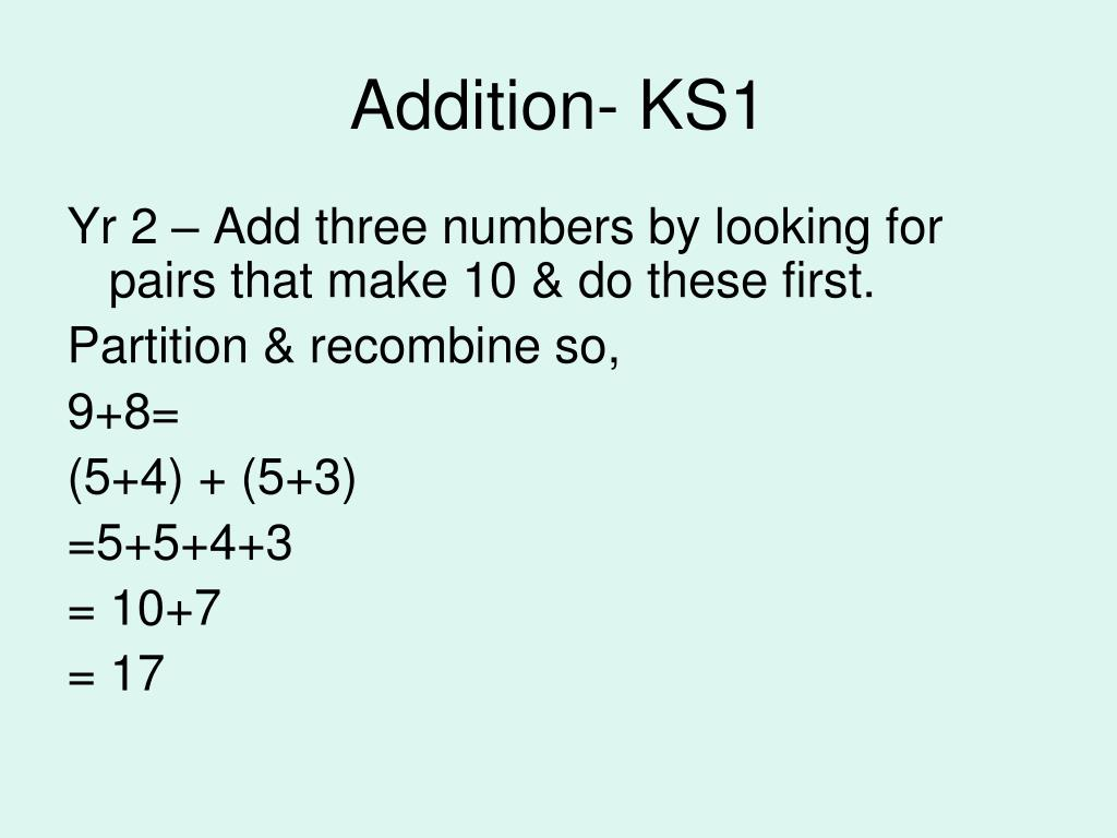 Addition- KS1