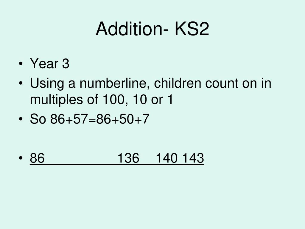 Addition- KS2