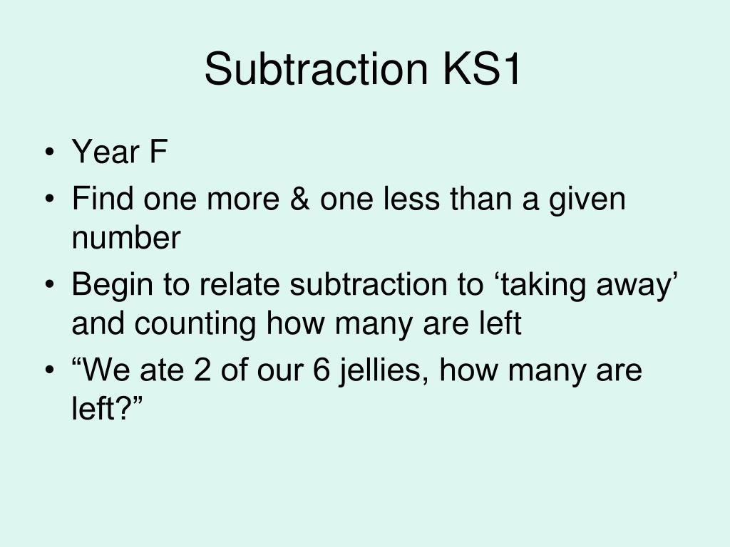 Subtraction KS1
