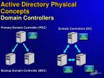 active directory physical concepts domain controllers