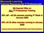 microsoft learning training resources for it professionals