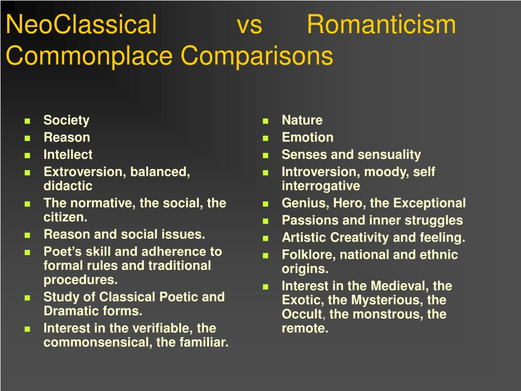 exploring writers of romanticsm and realism essay