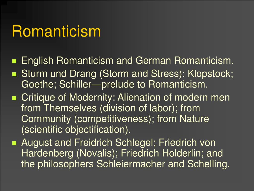 the influence of romanticism The romantic period in american literature romanticism is a movement wherein artists reacted to the constraints of realism the gothic influence in america.