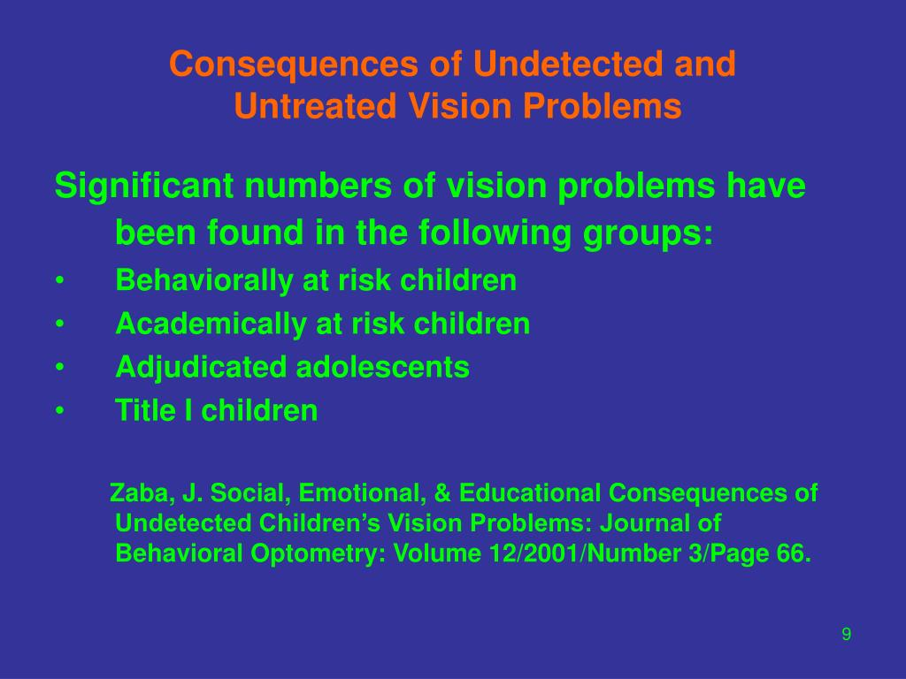 Consequences of Undetected and