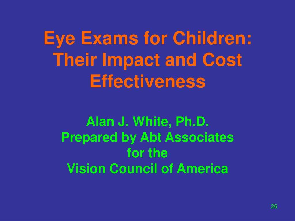 Eye Exams for Children: