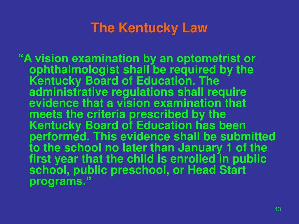 The Kentucky Law