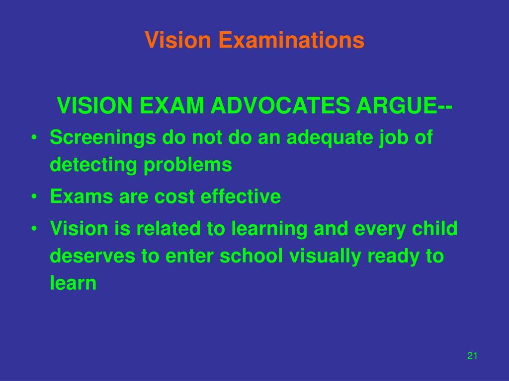 Vision Examinations