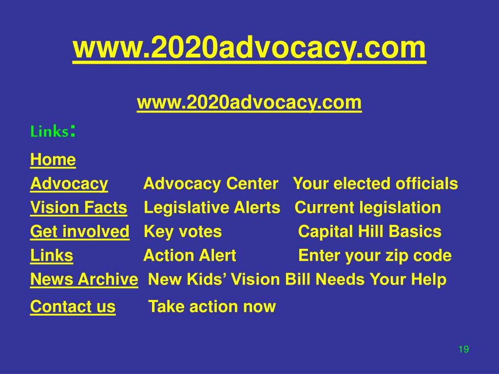 www.2020advocacy.com