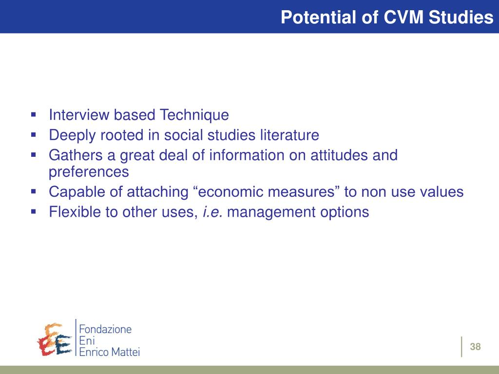 Potential of CVM Studies