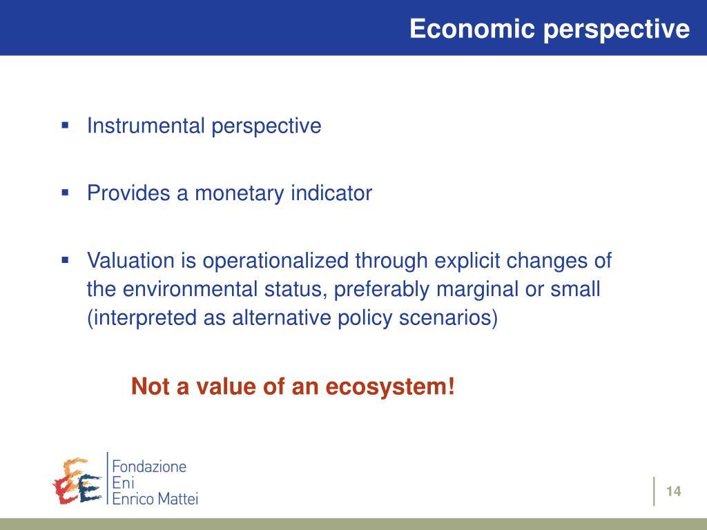 Economic perspective