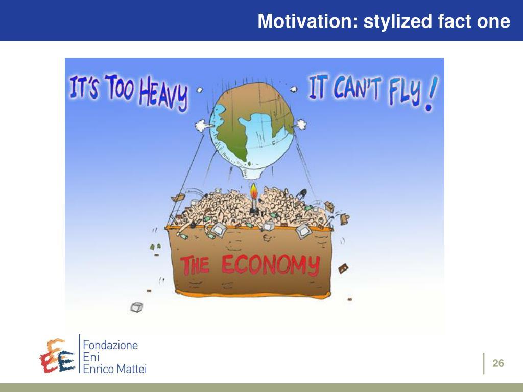 Motivation: stylized fact one
