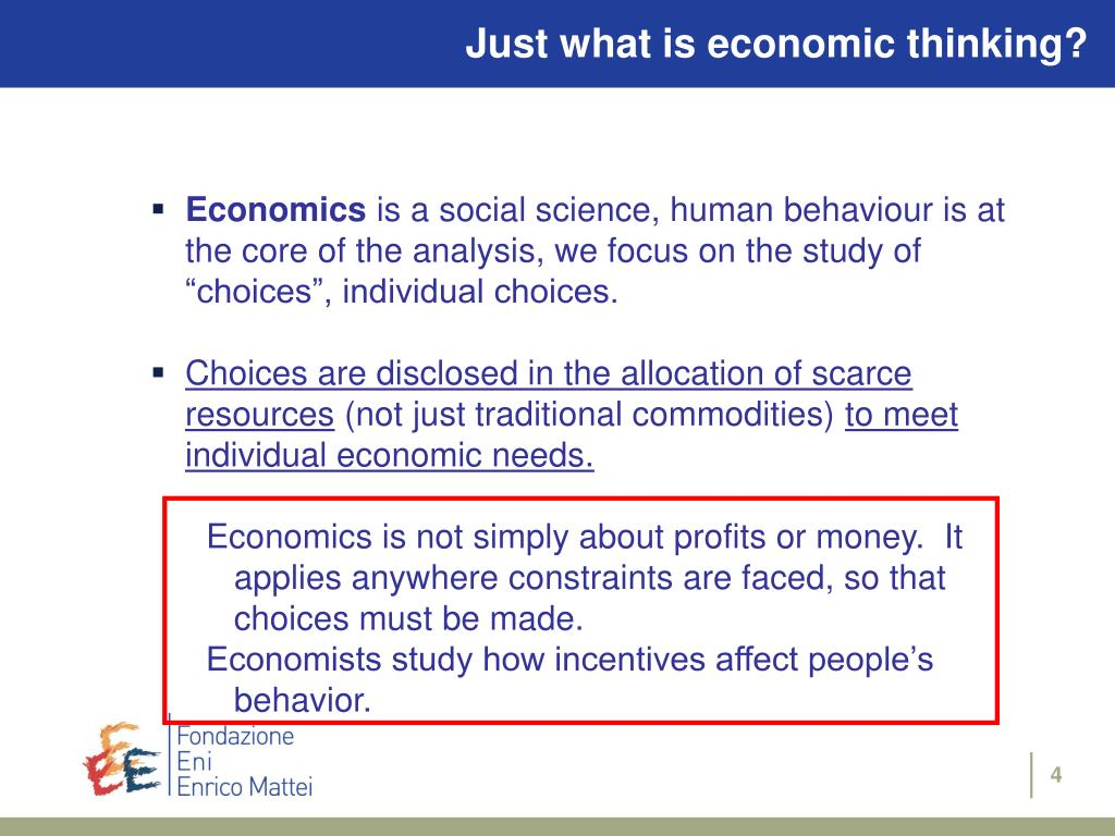 Just what is economic thinking?