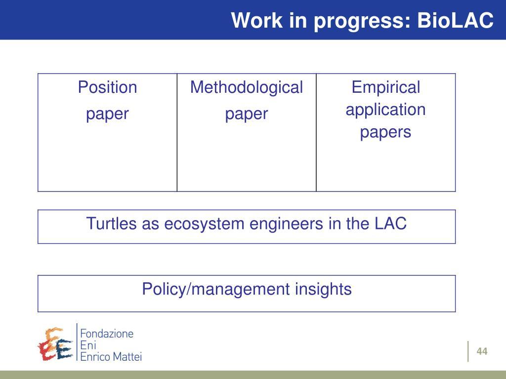 Work in progress: BioLAC