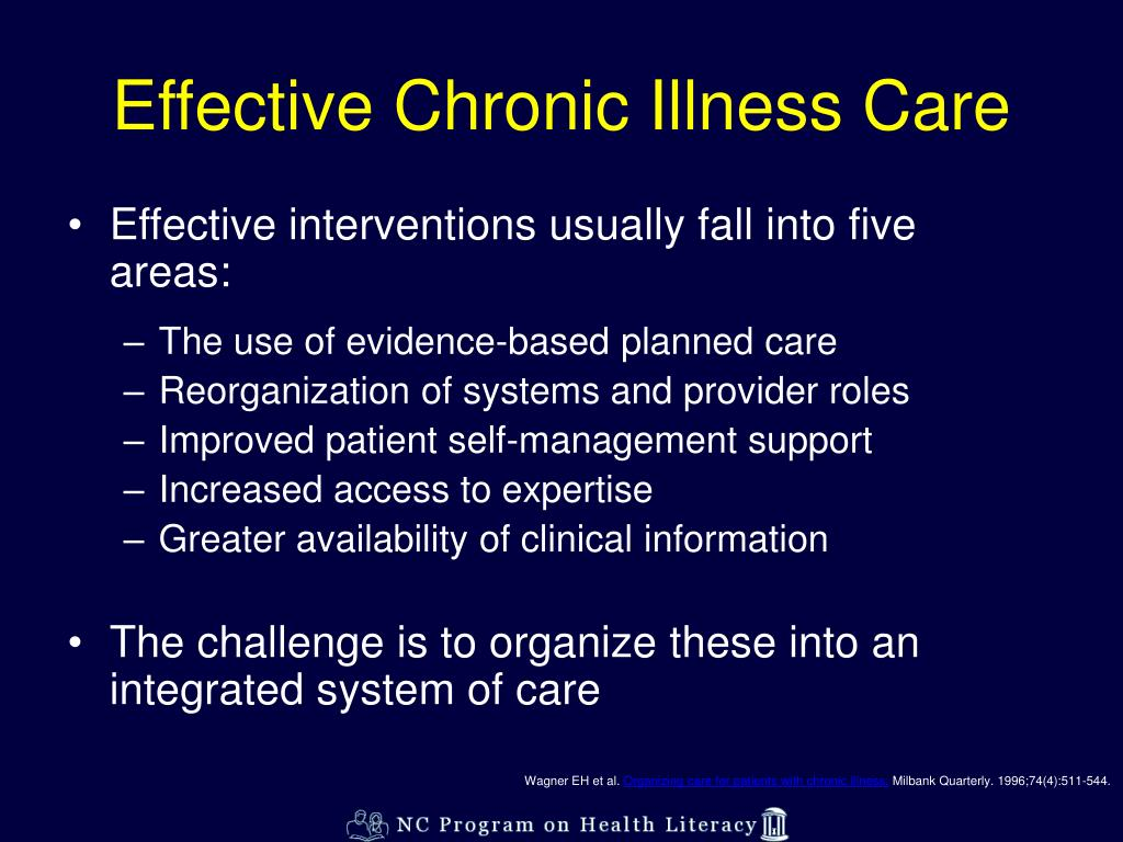 Effective Chronic Illness Care