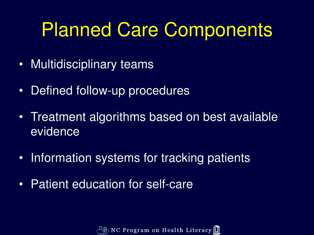 Planned Care Components