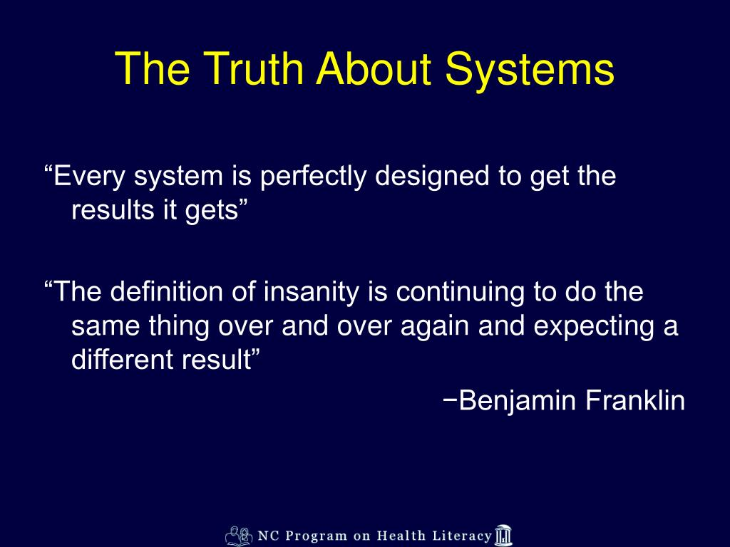 The Truth About Systems