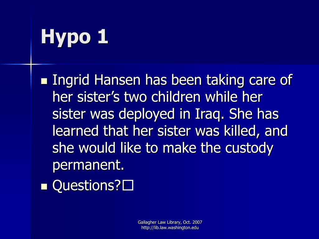 Hypo 1
