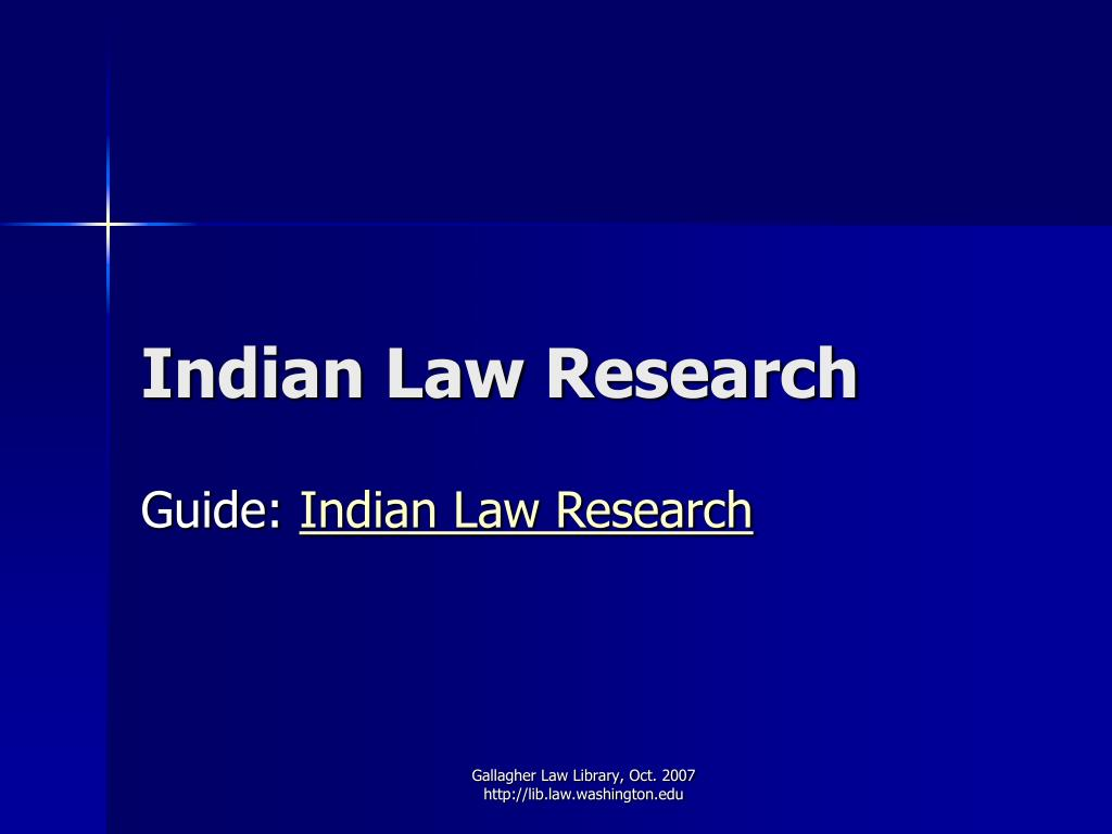 Indian Law Research