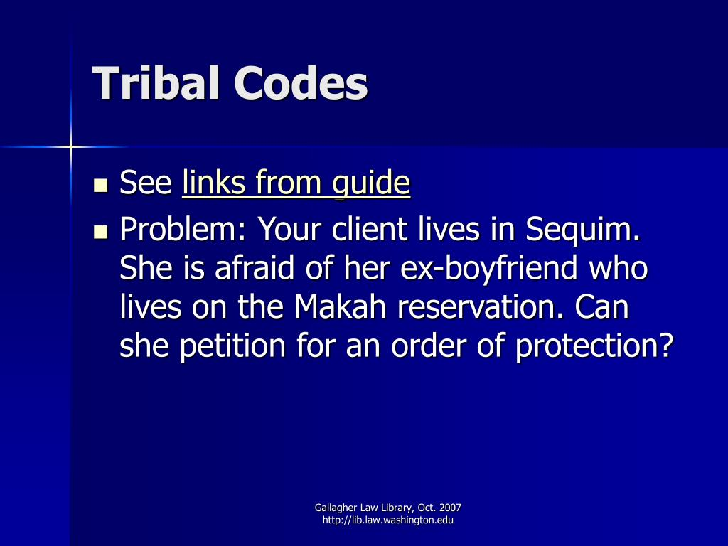 Tribal Codes