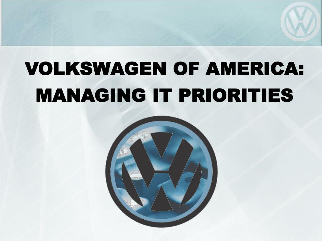 volkswagen matulovic The time period is 2003, and your case study is to provide guidance for the cio, dr uwe matulovic analyze the problems which cause the uneven funding levels of it projects consider for examples whether the brand groups, the product diversification strategy, and/or trends in automotive sales demographics contributed to the situation.