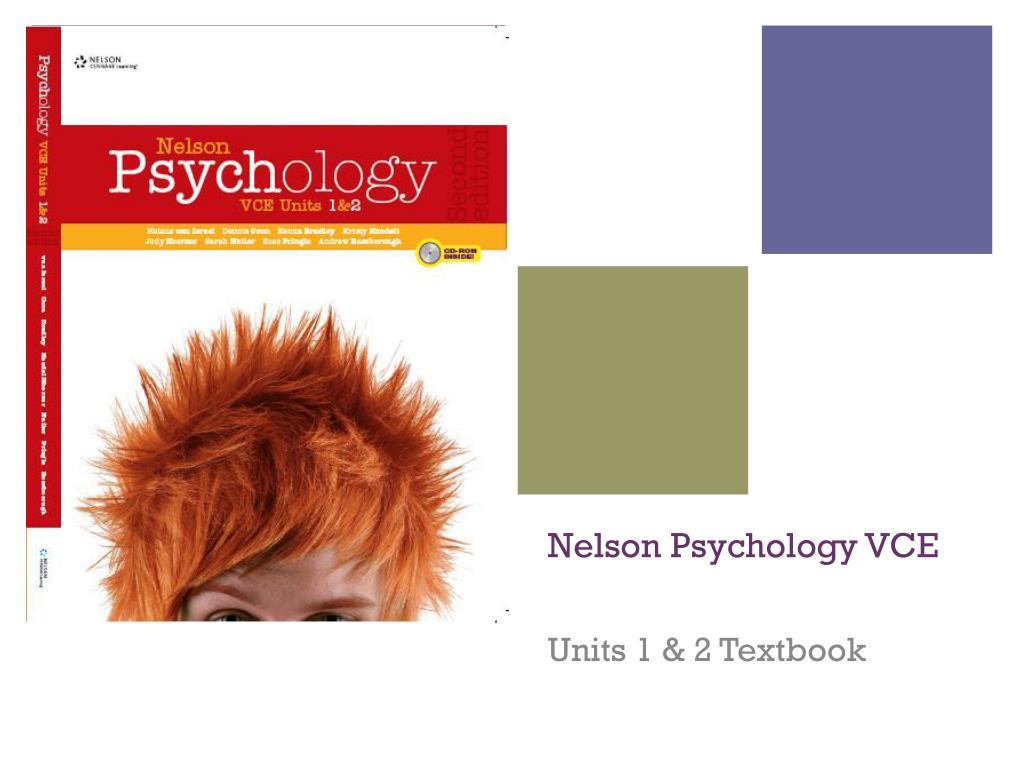 Nelson Psychology VCE