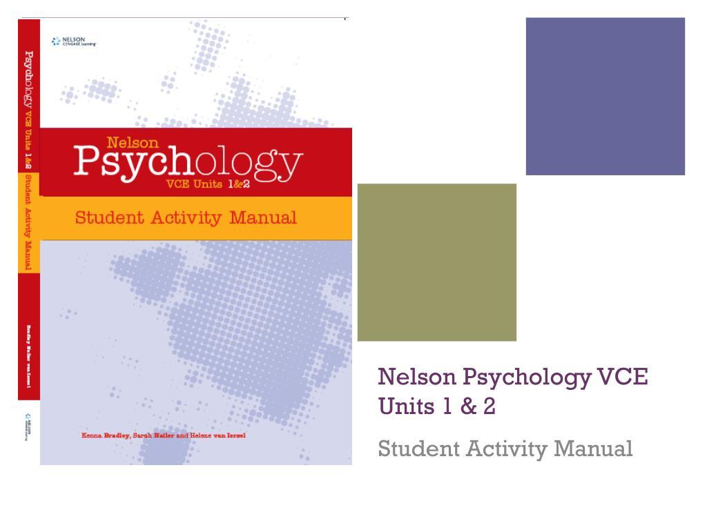 Nelson Psychology VCE Units 1 & 2
