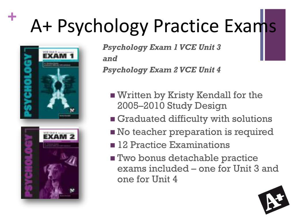 A+ Psychology Practice Exams