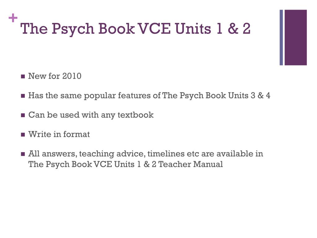 The Psych Book VCE Units 1 & 2