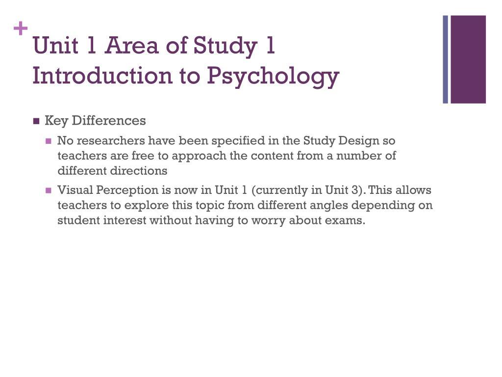 Unit 1 Area of Study 1