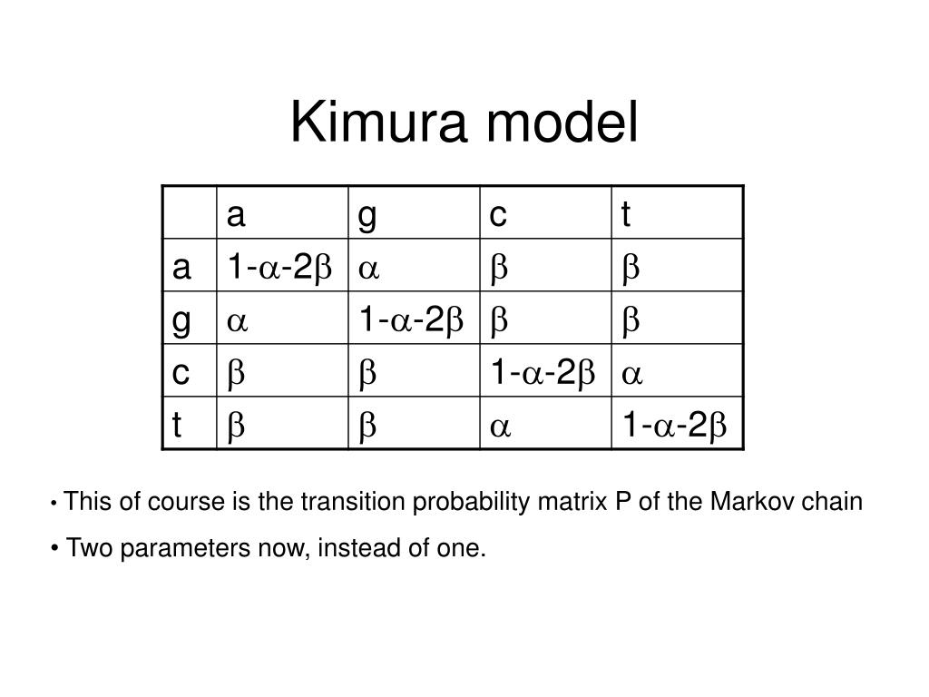 Kimura model