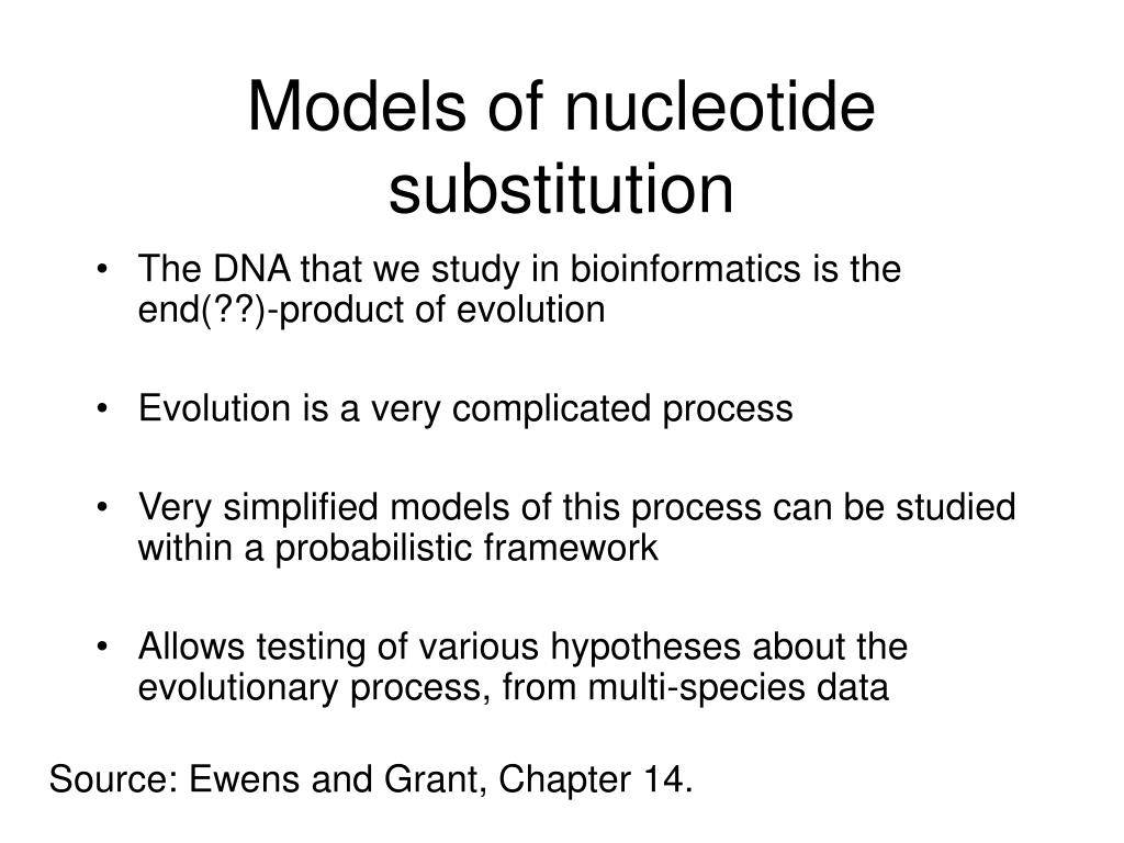 Models of nucleotide substitution