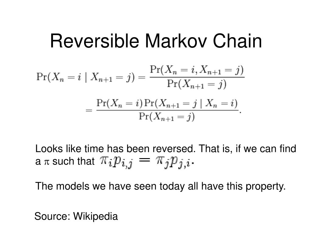 Reversible Markov Chain