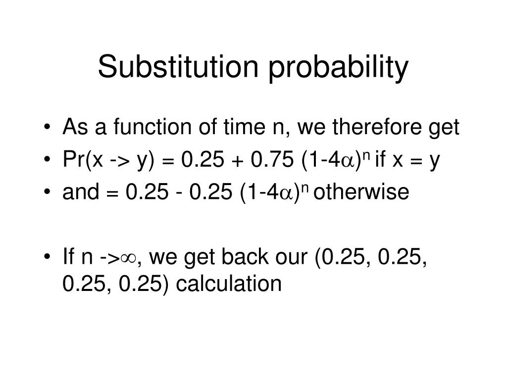 Substitution probability
