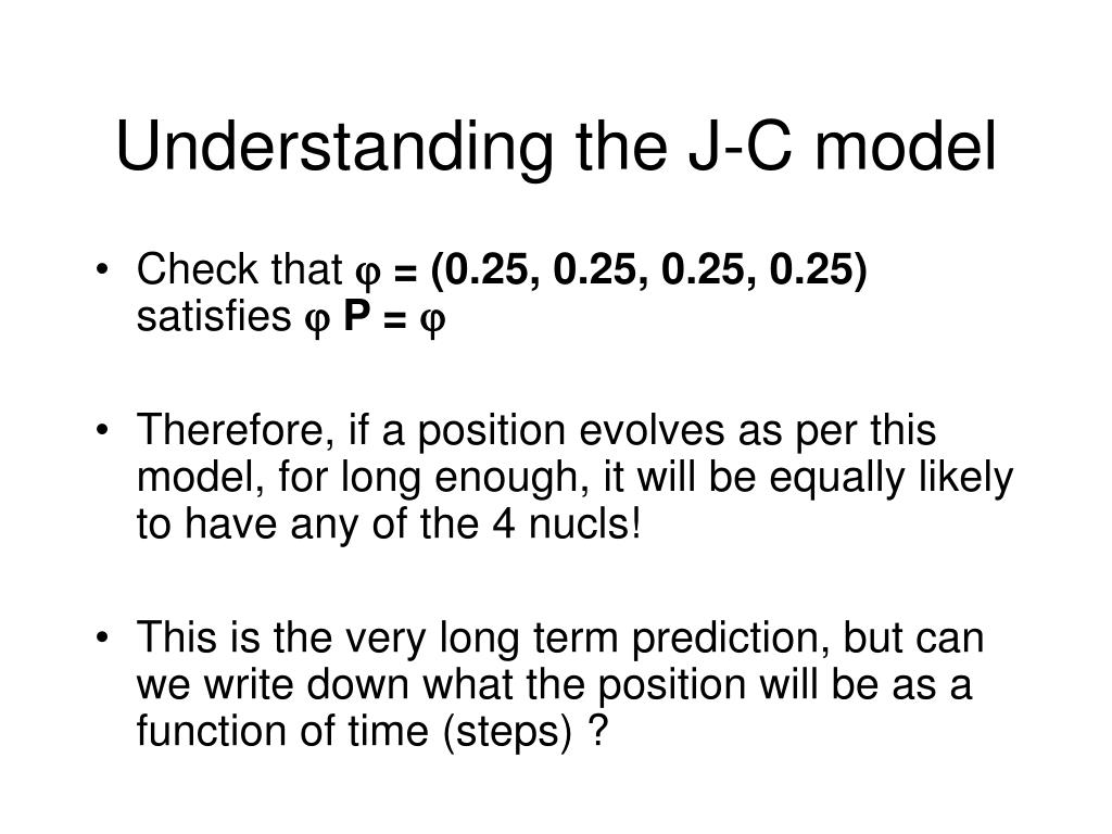 Understanding the J-C model