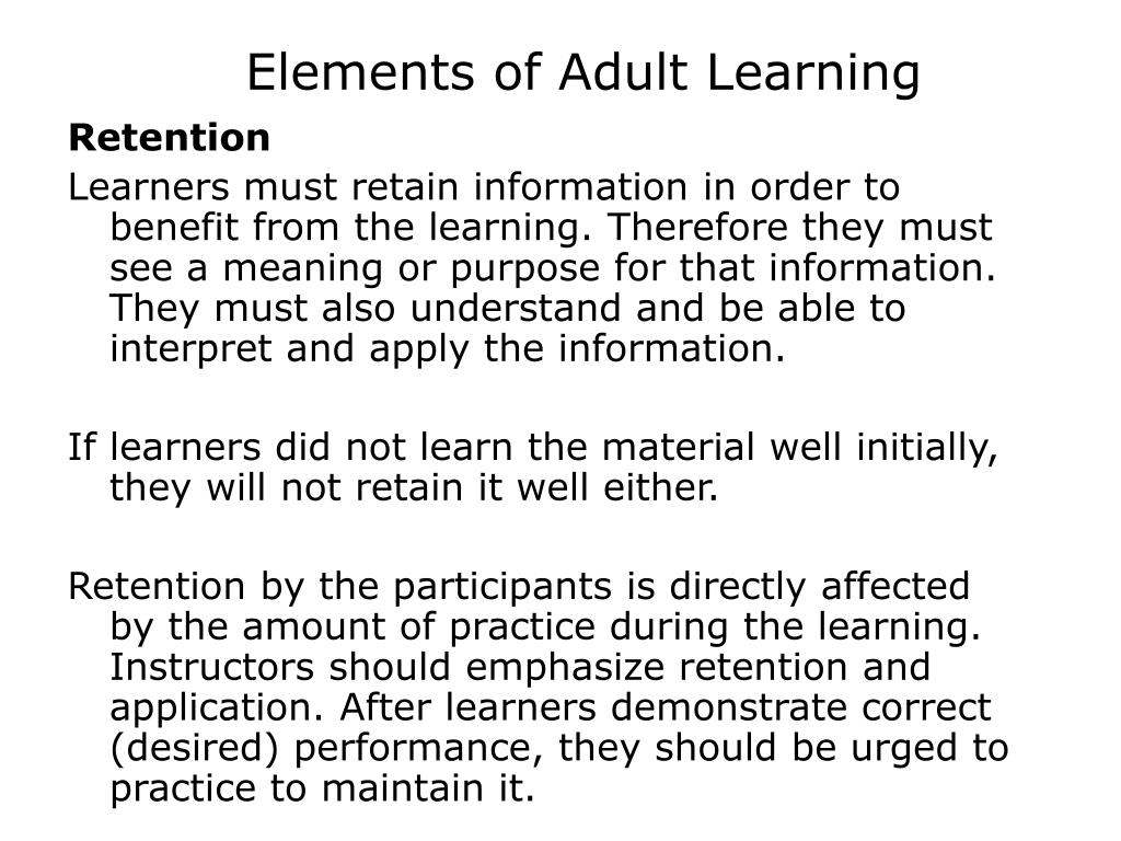 adult education principles