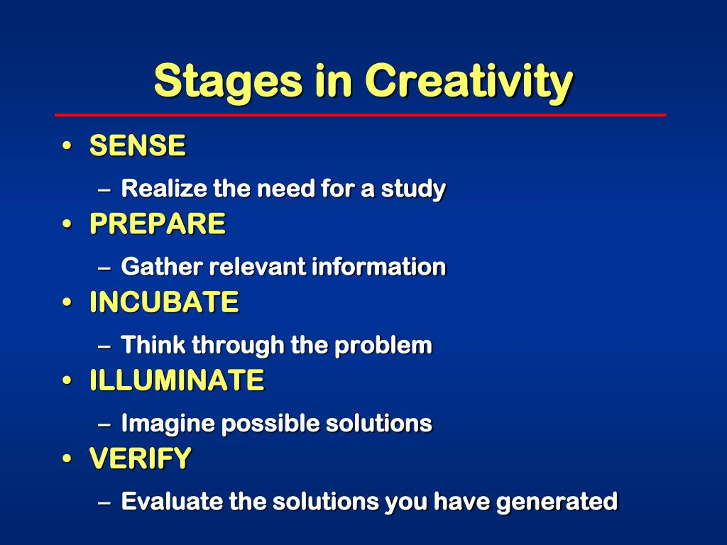 Stages in Creativity