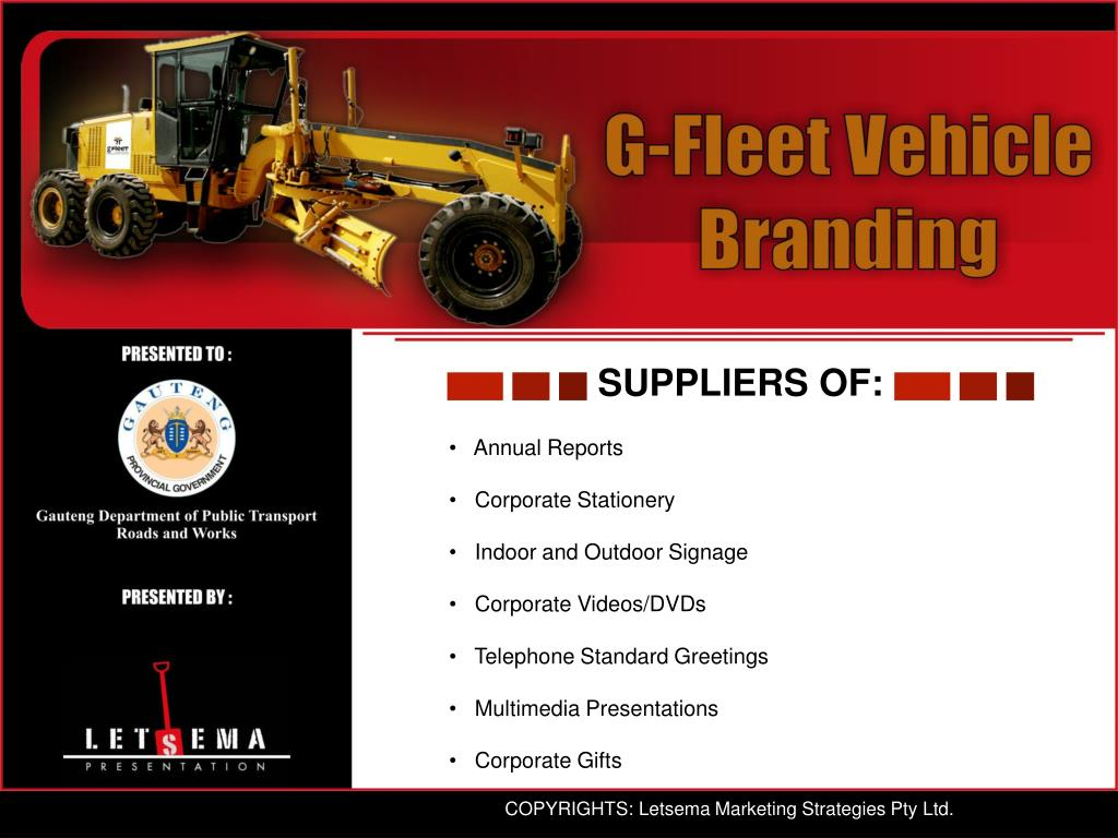 SUPPLIERS OF: