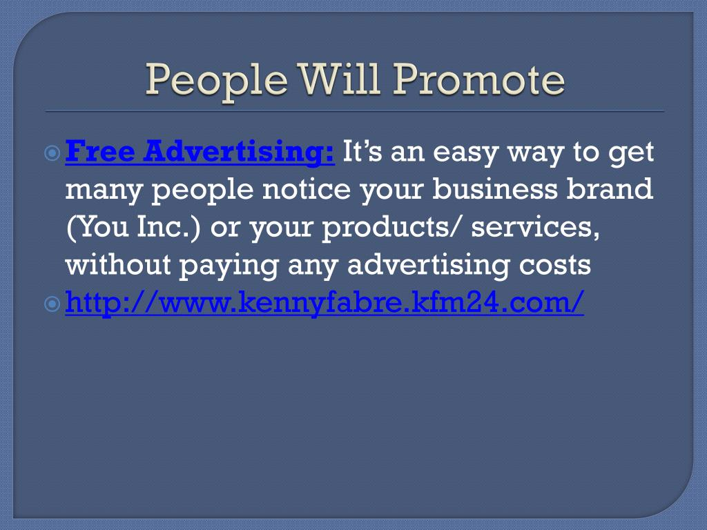 People Will Promote