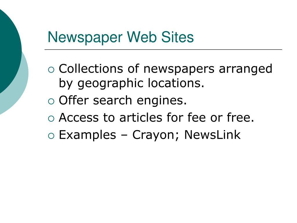 Newspaper Web Sites