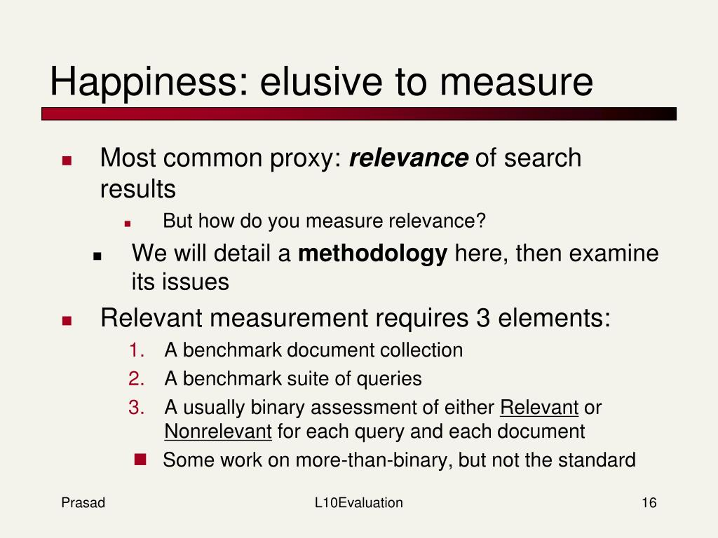 Happiness: elusive to measure