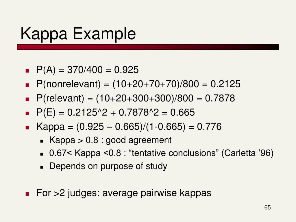 Kappa Example