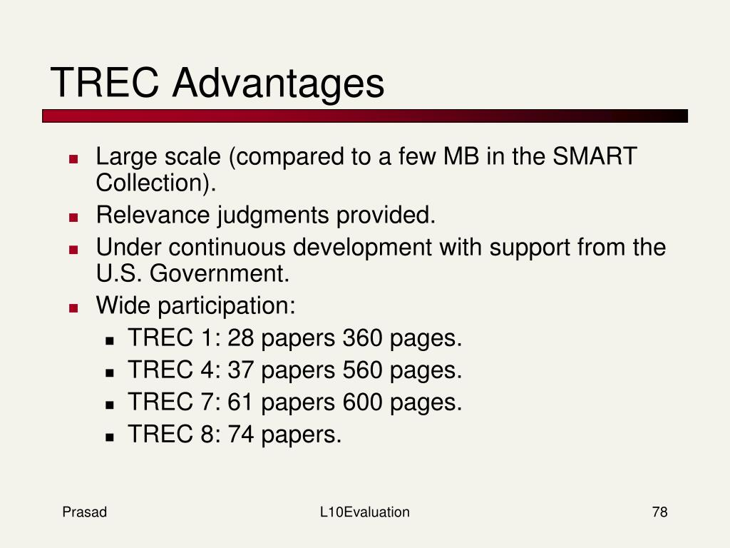TREC Advantages